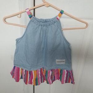 Blue denim tunic top (girls) calvin klein jeans